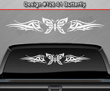 Design #126-01 BUTTERFLY Rear Window Decal Sticker Graphic Tribal Accent Car SUV