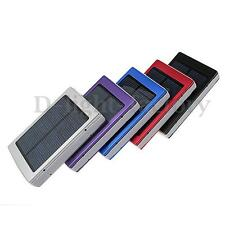 Portable Solar Panel Dual USB External Mobile Battery Power Bank Pack Charger