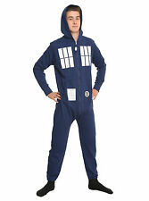 Doctor Who TARDIS Union Suit Adult Hooded One-Piece Pajama Onesie