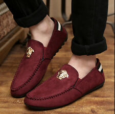 New Mens Comfy Suede Casual Slip On Loafer Shoes Moccasins Driving Shoes SR02