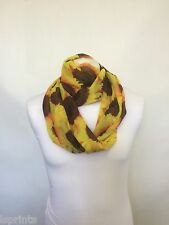 SUNFLOWER INFINITY SCARF JERSEY OR CHIFFON UNISEX PRINTED FASHION LOOP SCARVES