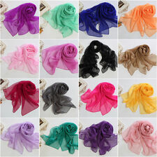 Fashion Lady Girls Long Soft Chiffon Scarf Wrap Shawl Stole Scarves
