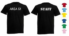 NEW MENS WOMENS KIDS AREA 51 STAFF UNITED STATES AIR BASE PROTECTED T-SHIRT