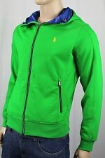 Ralph Lauren Green Blue Hoodie Full Zip Sweatshirt Yellow Pony NWT