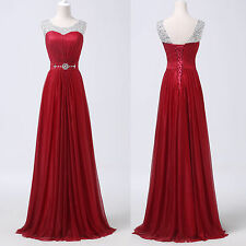 Dark Red Wedding Formal Evening Party Gown Prom Dresses Vestidos de graduation 1