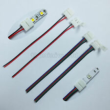 1clip+wire 2P 4P 8mm 10mm led connector - 3528 5050 5630 single color/ RGB strip