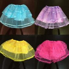 Girl Kids Beautiful Ballet Dance Dress Translucent Princess Tulle Tutu Skirt J16