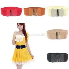 Women's Elastic Wide Belt Stretch Cinch Buckle Bowknot Bow Waistband Waist Belt