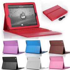 Colors Stand Leather Case Cover With Bluetooth Keyboard For Apple iPad 2 3 4 Gen