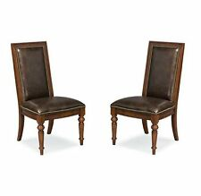 Thomasville Furniture Fredericksburg Mahogany Leather Side Dining Chairs Opt Qty