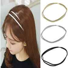 Fashion Women's Double Braided Leather Woven Hair Band Headband Girl Head Piece