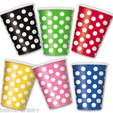 6 Polka Dot Dots Spot Spotty Style Party Supplies Disposable 12oz Paper Cups
