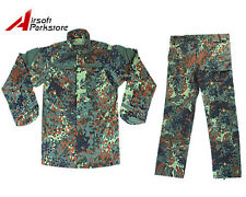 Military Special Force Army Tactical Combat BDU Uniform Shirt Pants German Camo