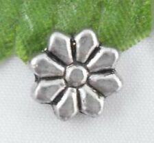 Wholesale 30/66Pcs Tibetan Silver Flower Spacer Beads 9x3mm(Lead-free)