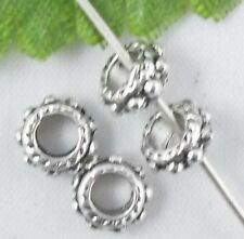 Wholesale 129/280Pcs Tibetan Silver  Spacer Beads 6x3mm(Lead-free)
