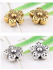 Wholesale 32/72Pcs Tibetan Silver/Gold Flower Spacer Beads 9x4.5mm(Lead-free)