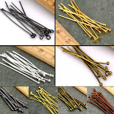 Silver Gold Eye Pin Flat Head Pin Ball Pin Finding 16-60mm Any size to choose
