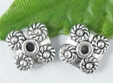 Wholesale 22/48Pcs Tibetan Silver  Spacer Beads 9x4mm(Lead-free)