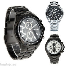 CURREN Fashion Mens Stainless Steel Analog 3 Color Sport Quartz Wrist Watch