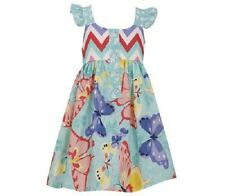 Bonnie Jean Girls Butterfly Chevron Spring Summer T Back Dress 4 5 6 6X New