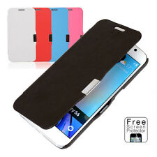 Slim Leather Flip Case + Screen Protector For Samsung Galaxy S6/S5 Wallet Cover