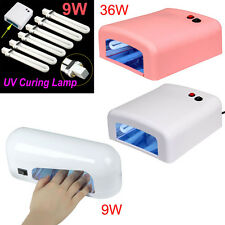 9W UV Light Bulb 36W 9W UV Nail Polish Dryer Lamp Gel Acrylic Curing 220-230V AU