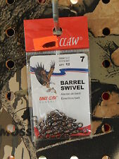Eagle Claw Barrel Swivels Brass Or Black Size: 7,10,12,Or 14 Select Size & Color