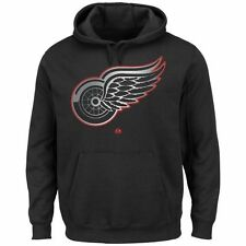 Majestic Detroit Red Wings Game Reflex Pullover Hoodie - Black