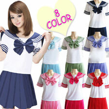 Japanese School Girl Dress Outfit Sailor Uniform Cosplay Costume Fancy Dress
