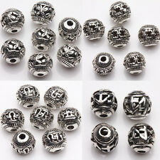 New 10/20Pcs 8mm Tibetan Silver Spacer Loose Beads Bracelets Charms Making DIY