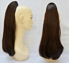 Straight/Reversible 52cm-58cm Hairpiece Hair Piece Clip-on in Long Pony tail