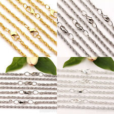 2/10Pcs Lobster Clasps Twisted Ring Metal Chains Necklace Jewelry Findings  3mm