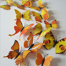 Colorful 3D Wall Sticker Butterfly Home Decor Room Decoration Stickers 12Pcs CH