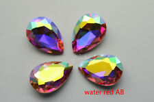 50 PCS 20mm x 30mm Glass Color AB Tear Drop Faceted Glass Jewels