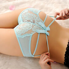 Women Ladys Sexy Lace V-string Briefs Panties Thongs G-string Lingerie Underwear