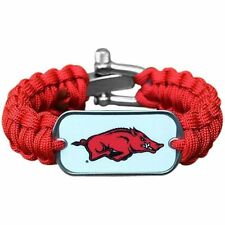 Arkansas Razorbacks Survival Paracord Bracelet
