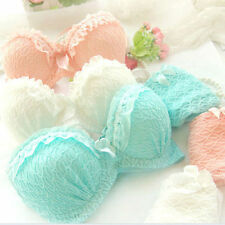 New Women Sexy Underwear Lace Embroidery Splice Push-Up Padded Bra Set