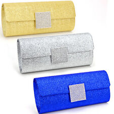 Ladies Dazzling Bling Wedding Bridal Clutch Prom Evening Bag Purse Handbag