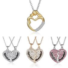 HOT MOTHER DAUGHTER HEART NECKLACE SET MUM MOM PENDANT GIFT FAMILY GRIL CUTE NEW