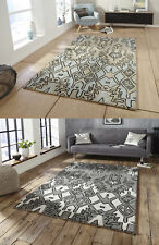 Spectrum Hand Tufted Modern Aztec Style Rug 100% Wool Large Centre Piece Mat