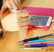2in1 Write and touch screen multifunction Pen hot crystal ball-point fashion pen