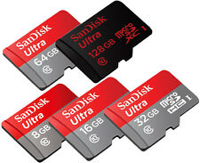 SanDisk Ultra 128GB 64GB 32GB 16GB 8GB micro SD SDHC SDXC Lot 48MB/s Class10 US*