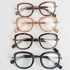 Vintage Men Women Unisex Nerd Glasses Clear Lens Eyewear Retro Spectacles