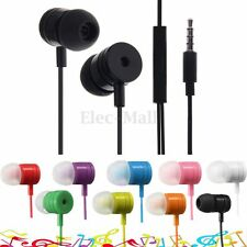 3.5mm In-Ear Earbuds Earphone Headset Headphone + Remote Mic For Cell Phone MP3