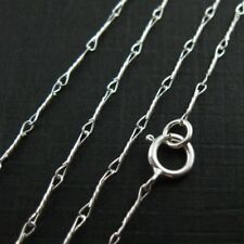"""Sterling Silver Necklace- Fancy Twisted Silver Chain Necklace-All Sizes(16""""-36"""")"""