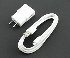 6 Feet Micro USB Sync Charger Cable + OEM Samsung 2A Wall Travel Home AC Adapter