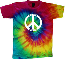 Peace not war peace sign tie dye t-shirt cool colorful tie dye tee shirt