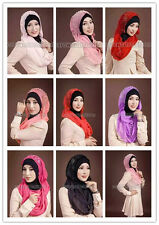 Wholesale Retail Muslim Hijab Connect Tube Cotton Caps Islamic Scarf Arab Shawls