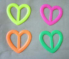 Tee shirt clip pull holder tie heart ring ONE neon green yellow orange hot pink