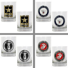 Choose US Military Branch 2PC 14oz Rocks Glass Tumbler Set by Great American
